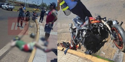 MOTOCICLISTA FALLECE TRAS GRAVE ACCIDENTE EN LA COSTANERA REPÚBLICA DEL PARAGUAY