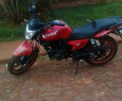 Recuperan motocicleta robada mediante GPS