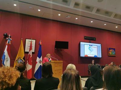 Embajadora paraguaya en Canadá participó de charla sobre violencia contra la mujer