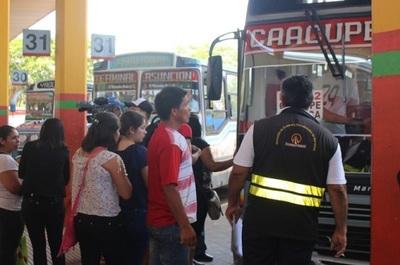 Operativo Caacupé: Dinatran informa sobre costo de pasaje y anuncia controles