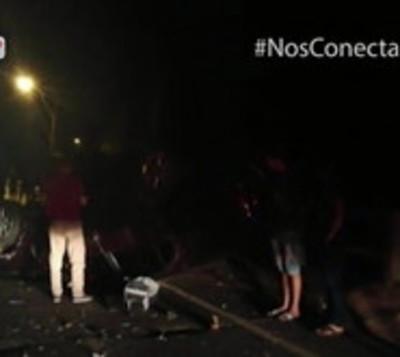 Tractor sin luces provoca accidente de tránsito en Misiones