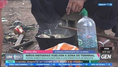 HOY / Rescatan a 28 niños indígenas de las inmediaciones de la Terminal