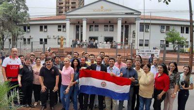 Abogados de CDE se movilizan ante huelga judicial