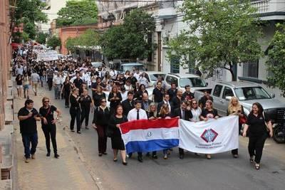 FUNCIONARIOS DEL MINISTERIO PÚBLICO MARCHAN EN DEFENSA DEL PRESUPUESTO INSTITUCIONAL