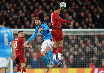 Nápoli consigue un valioso empate en Liverpool