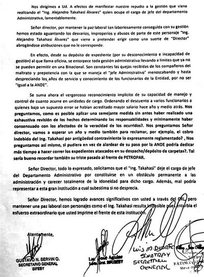 Sindicalistas de Yacyretá piden salida del jefe administrativo