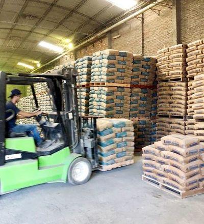 Importación de cemento es hasta 6.000 t al mes