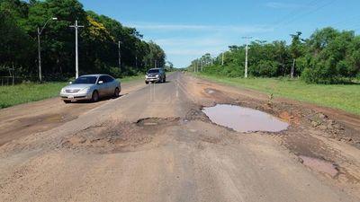 Sigue en lamentable estado la ruta Py 11 en San Pedro