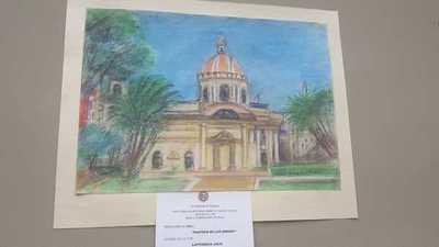 Exponen muestra de dibujos de estudiantes secundarios de Rusia inspirados en el Paraguay