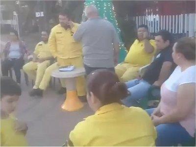 Bomberos de Mariano se manifiestan por falta de presupuesto
