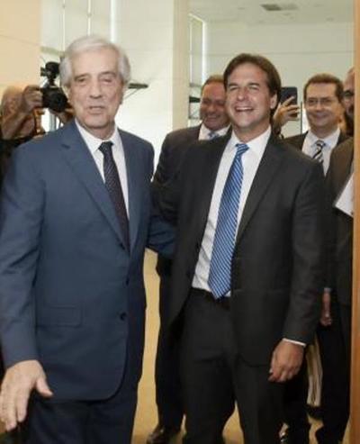 Lacalle Pou se entrevistó con Tabaré y se mostró partidario de flexibilizar el Mercosur