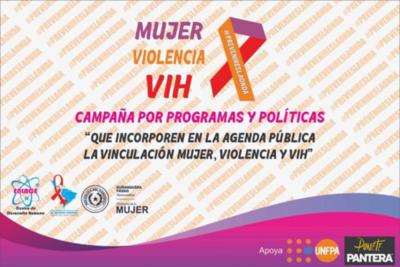 """Lanzarán campaña """"Mujer, violencia y VIH"""""""