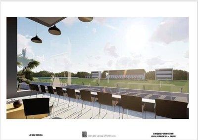 Jesús Medina construye un mega estadio en Limpio