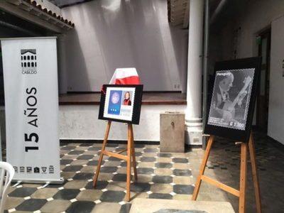 Presentan postales conmemorativos al centenario de Cayo Sila Godoy y Edith Jiménez