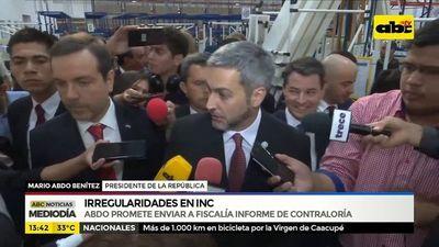 Mario Abdo sobre irregularidades en INC