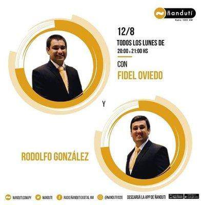 Doce Ocho con la conducción de Fidel Oviedo y Rodolfo González