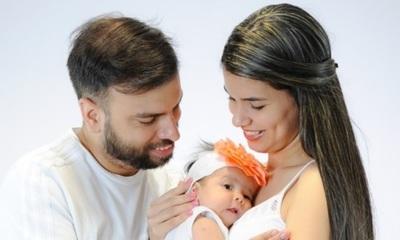 Los 2 meses de Anastasia, la hija de Marcelo Jara