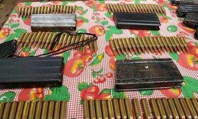 Incautaron cargadores de armas de guerra en Concepción