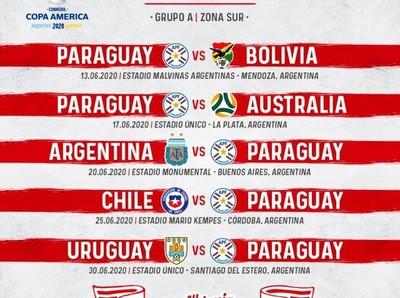 Paraguay debutará ante Bolivia en la Copa América 2020