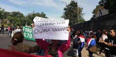 Seguidores de Cruzada Nacional reivindican banca dejada por Payo