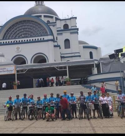 Ciclistas de San Pedro realizaron más de 300 km en peregrinación a Caacupé