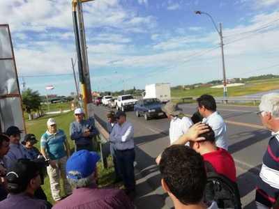 Empresas interesadas realizaron visita técnica a zona de obras de defensa costera en Pilar