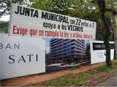 Barrios residenciales contra violación al Plan Regulador