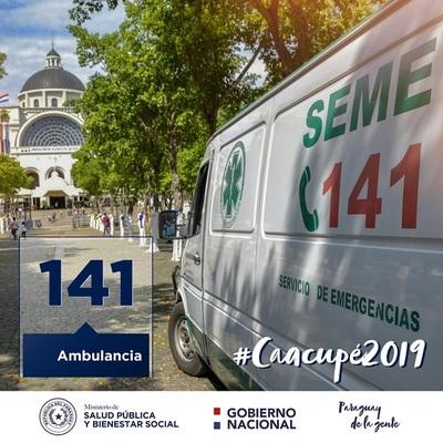 Operativo Caacupé: Llamá al 141 ante casos de emergencias