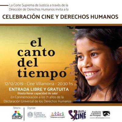Corte Suprema invita a participar de cine para conmemorar el Día Internacional de los DD.HH.
