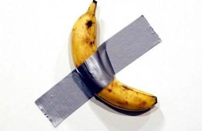 La banana pegada a la muralla que cuesta más de 100 mil dólares