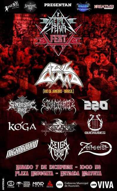 Metal Fest en su quinta edición este sábado en la Plaza Uruguaya
