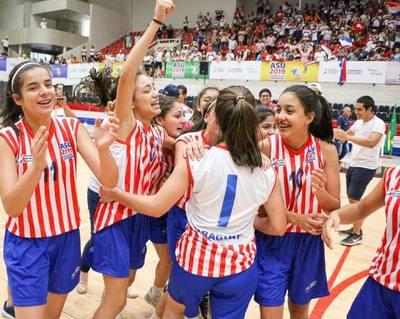 Basquet femenino se consagra campeón en Juegos Escolares Sudamericanos