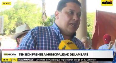 Tensión en Municipalidad de Lambaré