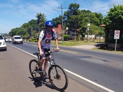 Desde Ñemby hasta Caacupé en bici en agradecimiento a la Virgen