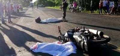 Horqueta: Madre e hijo mueren en accidente de tránsito