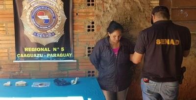 Mujer pretendía comercializar más de 4 mil dosis de crack en Caaguazú