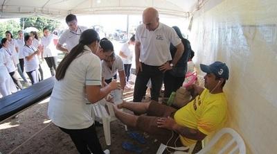 Caacupé: Casi 8000 personas ya recibieron atención medica