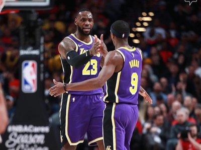 Davis y James lideran la undécima victoria de los Lakers