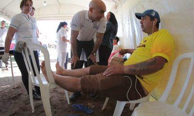 Más de 4.000 fieles ya recibieron asistencia médica