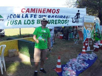 """""""Con la fe sin basura"""", piden a los peregrinos mantener limpia la ciudad"""