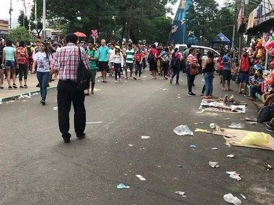 La basura, protagonista tras la fiesta religiosa