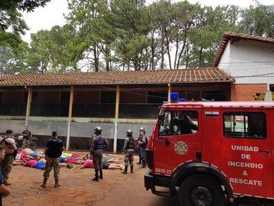Detenido provoca incendio en celda de jefatura policial de CDE