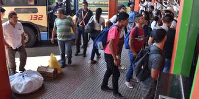 75.000 personas por la Terminal de Asunción