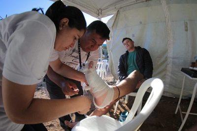 Salud atendió a más de 16.000 a lo largo del camino a Caacupé