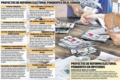 Postergarían hasta 2023 ley antilavado y reforma electoral