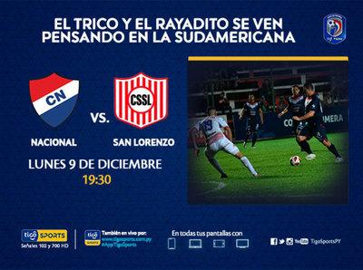 Nacional y San Lorenzo juegan igualados en el acumulativo