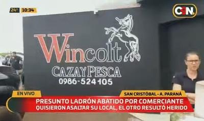 Asaltante es abatido por propietrario de comercio en San Cristóbal