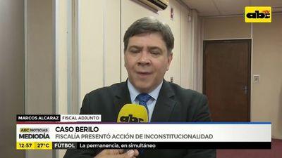 Caso Berilo: Fiscalía presentó acción de inconstitucionalidad