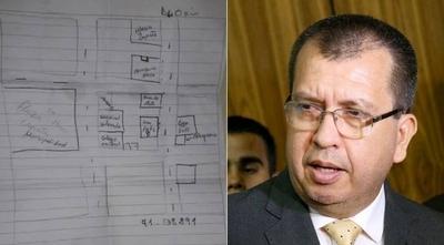 HOY / Croquis hallado por la Policía revela plan para asaltar vivienda de senador colorado