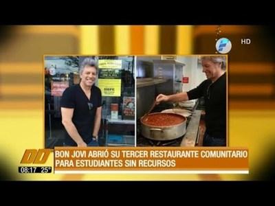 Bon Jovi abrió su tercer restaurante comunitario para estudiantes sin recursos